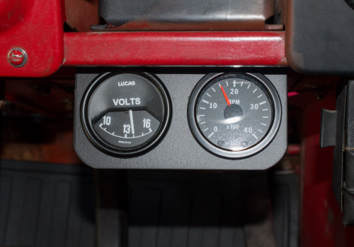 Voltmeter and tach